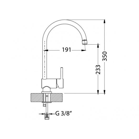 kichen mixer AM180, color ALVEUS white G11