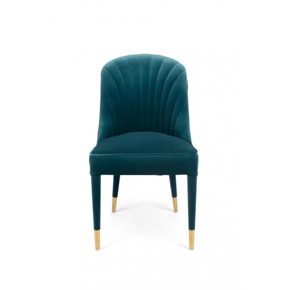 Give Me More Velvet Chair Blue
