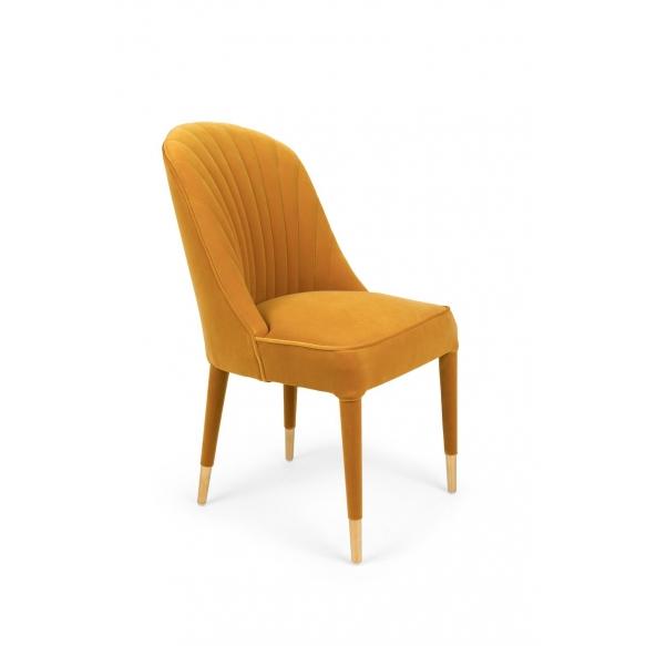 Give Me More Velvet Chair Ochre