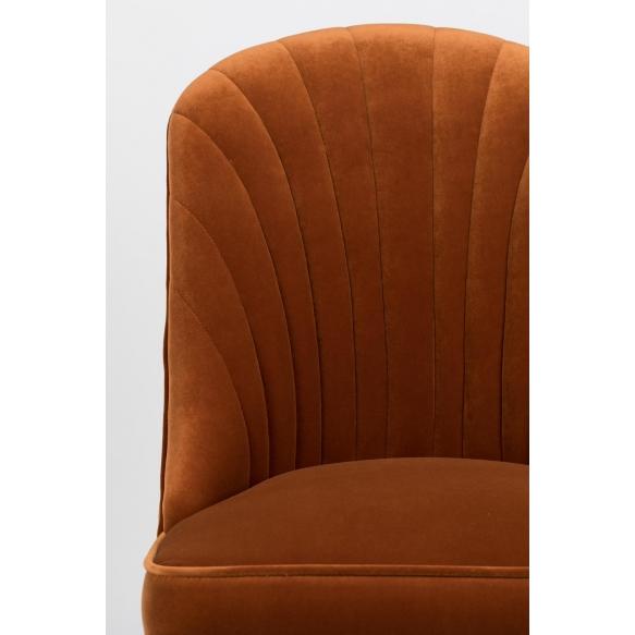 Give Me More Velvet Chair Orange