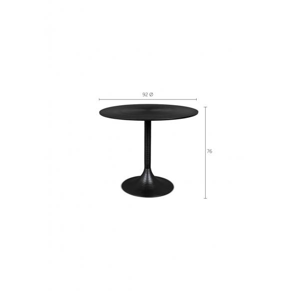 Hypnotising Round Dining Table Black