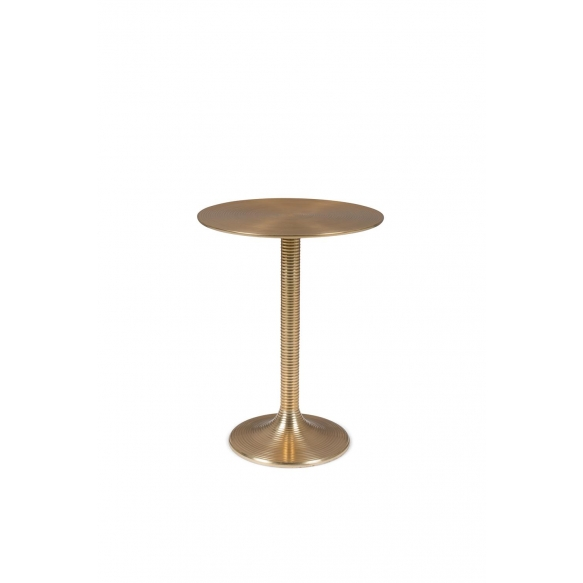 Hypnotising Round Side Table Gold