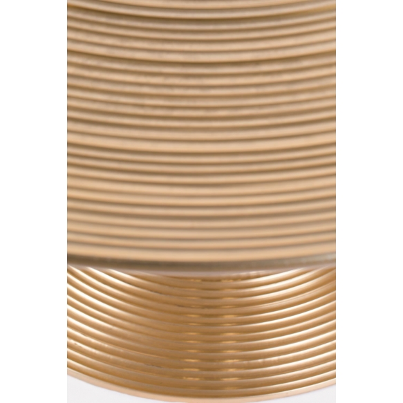 Hypnotising Round Coffee Table Gold