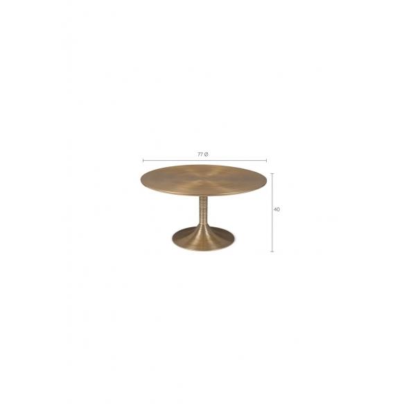 Hypnotising Round Coffee Table Black