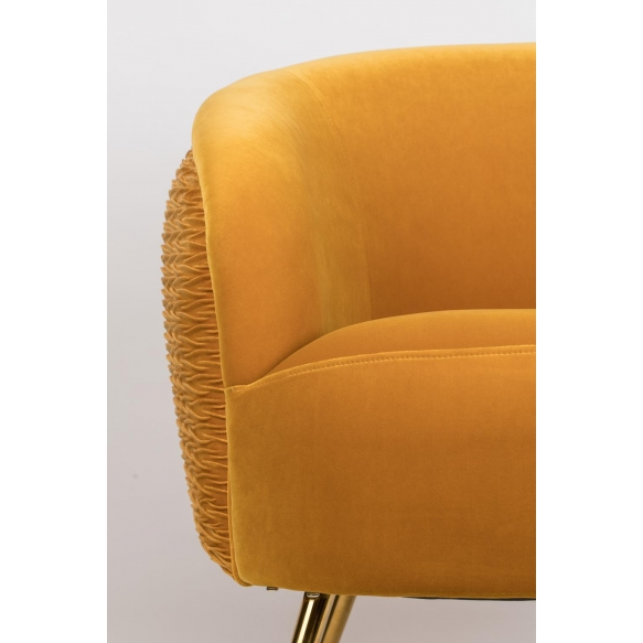 So Curvy Lounge Chair Ochre