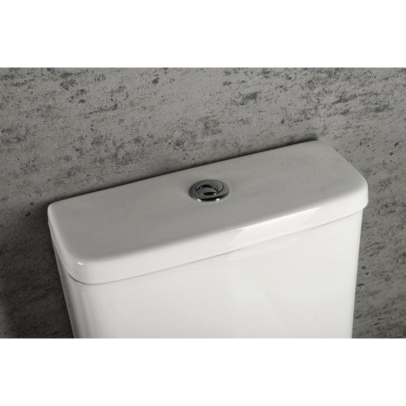 kõrge rimless wc kompakt Turku, universaalne trapp, 2-süsteemne, komplektis soft close iste (osad: 1,2)