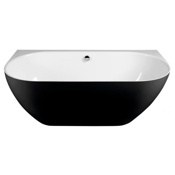 PAGODA Cast Marble Bath 170x85x58cm, Black/White