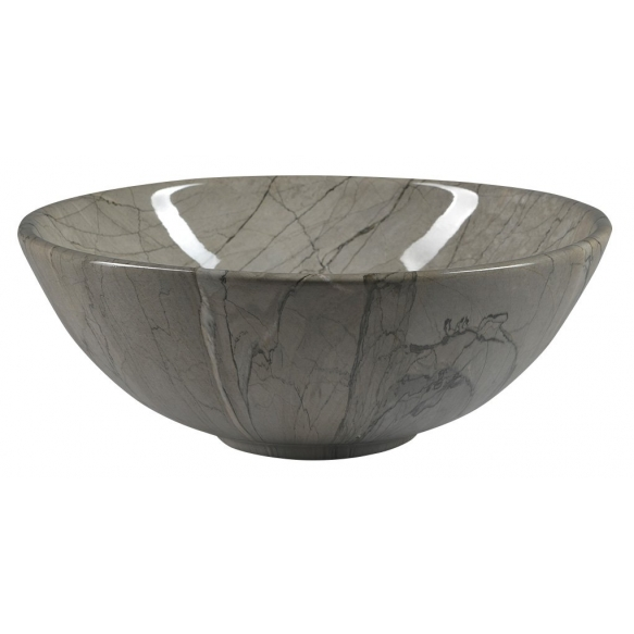 DALMA ceramic washbasin 42x42x16,5 cm, grey, click-clack not included