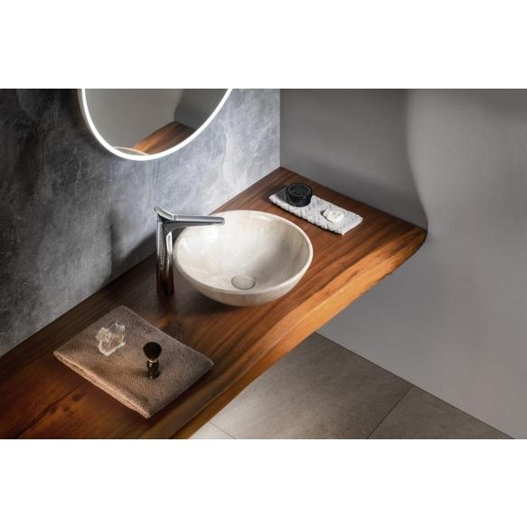 DALMA ceramic washbasin 42x42x16,5 cm, beige, click-clack not included
