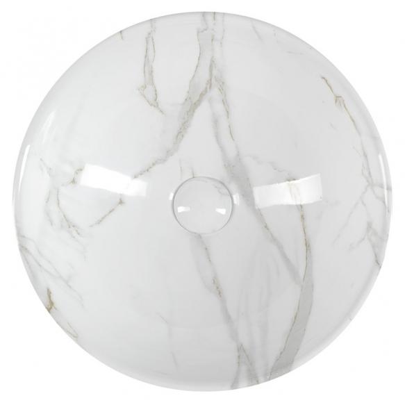 DALMA ceramic washbasin 42x42x16,5 cm, white, click-clack not included