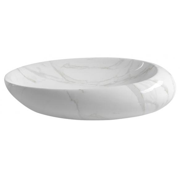 DALMA ceramic washbasin 68x44x16.5 cm cm, white, click-clack not included