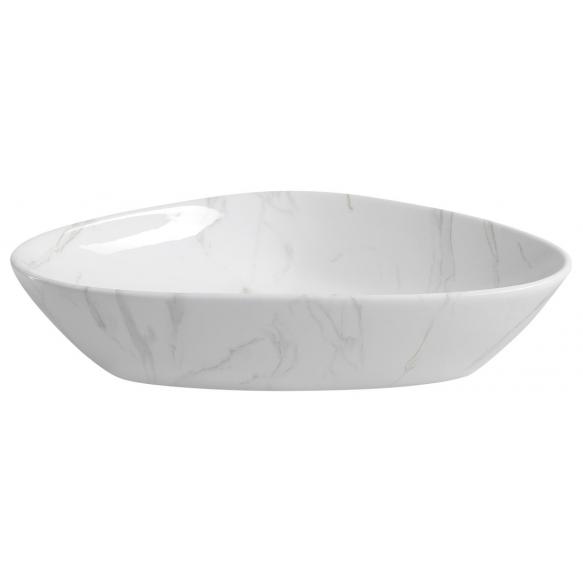 DALMA ceramic washbasin 58.5x39x14 cm cm, white, click-clack not included