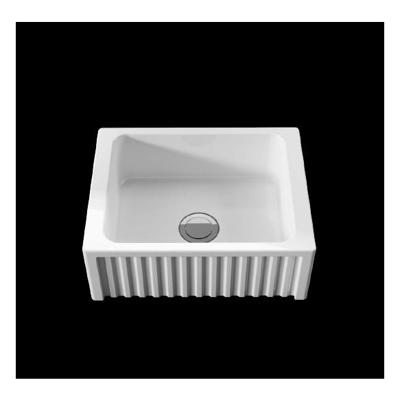 ceramic kitchen sink Hampshire, 60x47 cm, white
