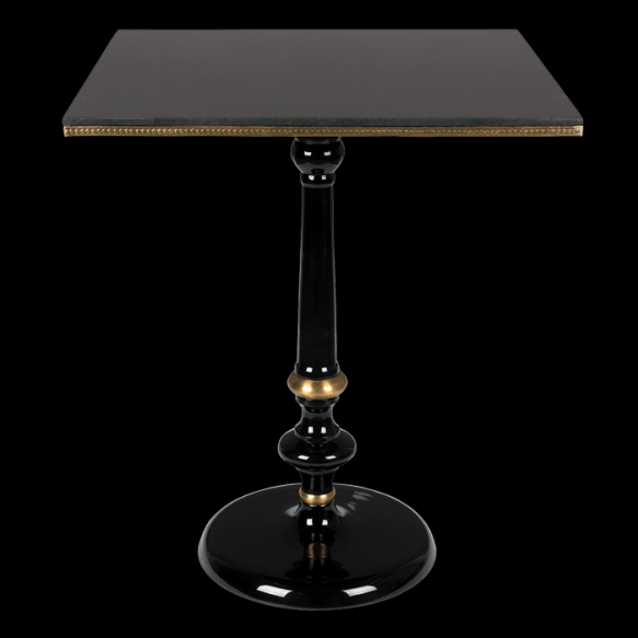 Own The Glow Square bistro table