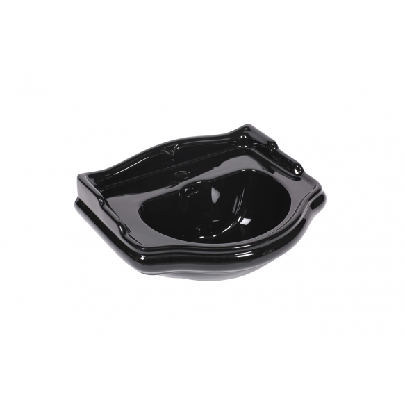RETRO One hole washbasin 55, shiny black