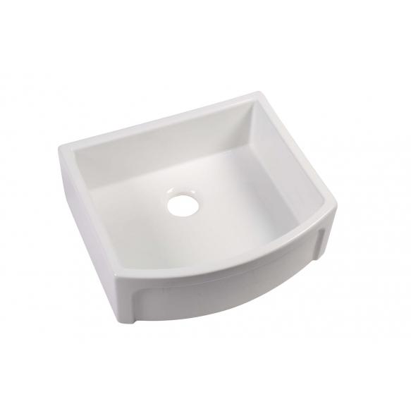 ceramic kitchen sink Devon, 75x53 cm, white