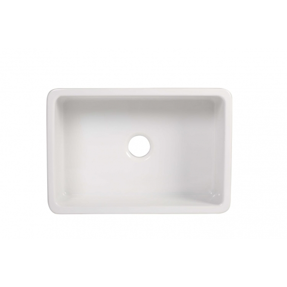ceramic kitchen sink Yorkshire, 68x47 cm, white, reversible