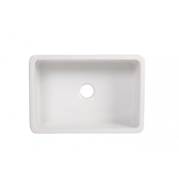 ceramic kitchen sink Yorkshire, 75x47 cm, white, reversible