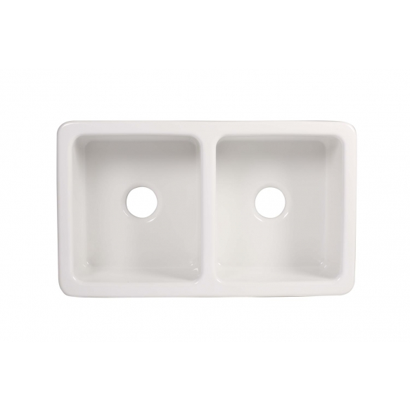 ceramic kitchen sink Surrey, 80x47 cm, white