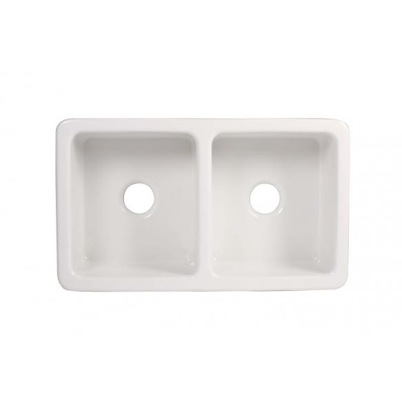 ceramic kitchen sink Surrey, 103x47 cm, white