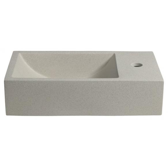 tsemendist valamu Crest R, 40x22x10 cm, white sandstone, komplekti kuulub põhjaklapp