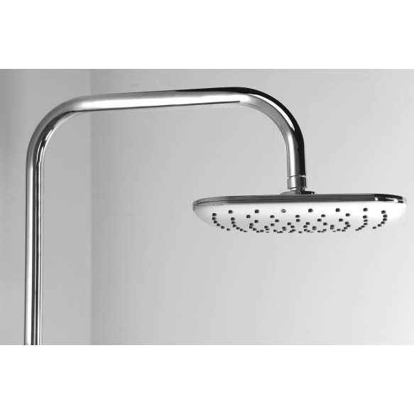 KERA Shower Combi Set with Mixer Tap Connection, chrome, adjustable height