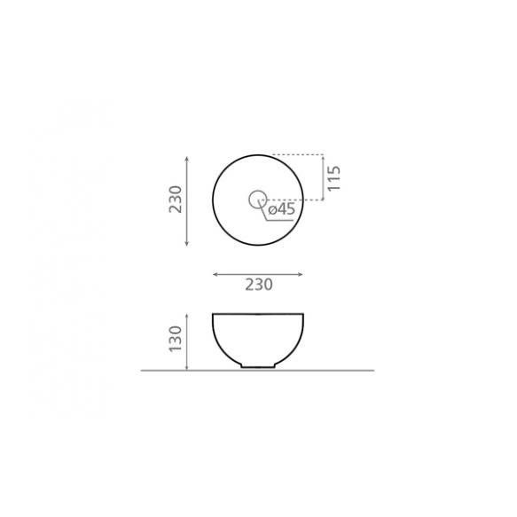 keraamiline valamu Mini Lys