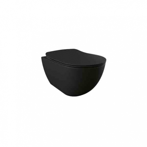 rimfree wall hung toilet Free,mat black, without seat