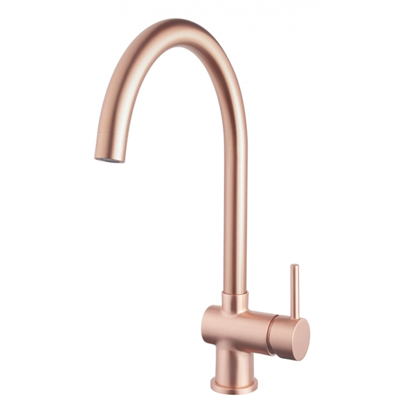 kitchen mixer Caral, brushed copper, PVD