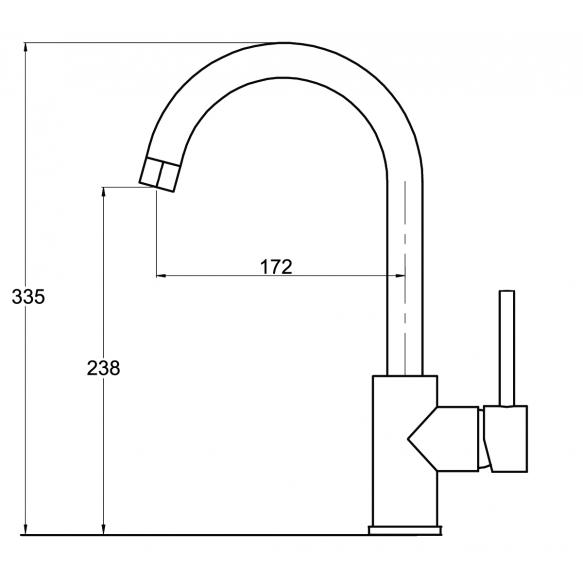 Köögisegisti kividekooriga S522 beež, toon 110