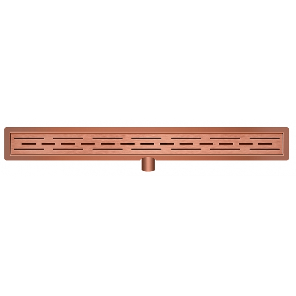 Stainless steel shower drain set with grid 70 cm, brushed copper