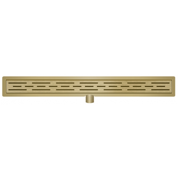 Stainless steel shower drain set with grid 70 cm, brushed brass