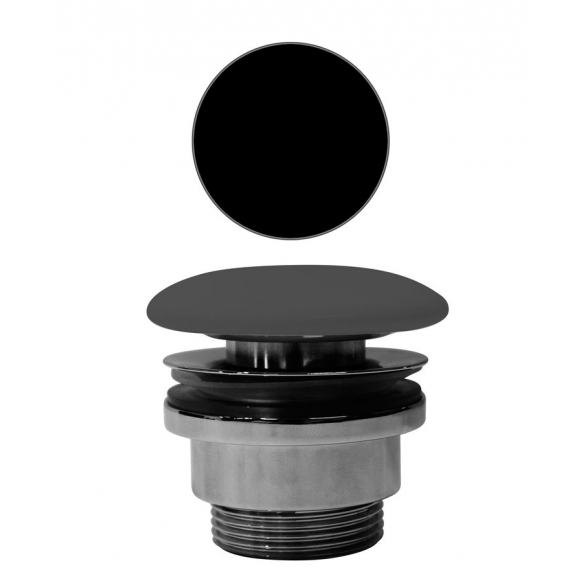 """outlet """"click-clack"""" for basin without overflow,black, 1 1/4´´"""