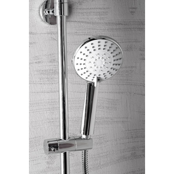 LIGA Shower Panel with Thermostatic Mixer Tap, chrome