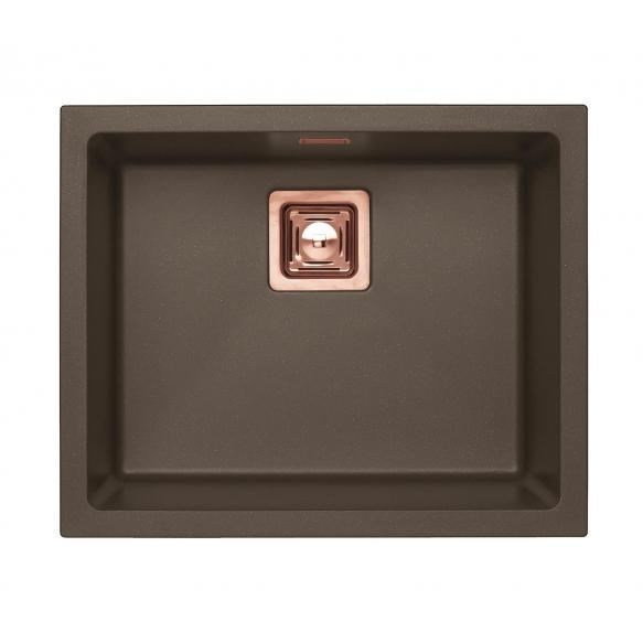 kivimassist köögivalamu Alveus Quadrix 50, chocolate G03M, vask fitingud ( 1108036 + 1127155 + 1105242 + 1113996)
