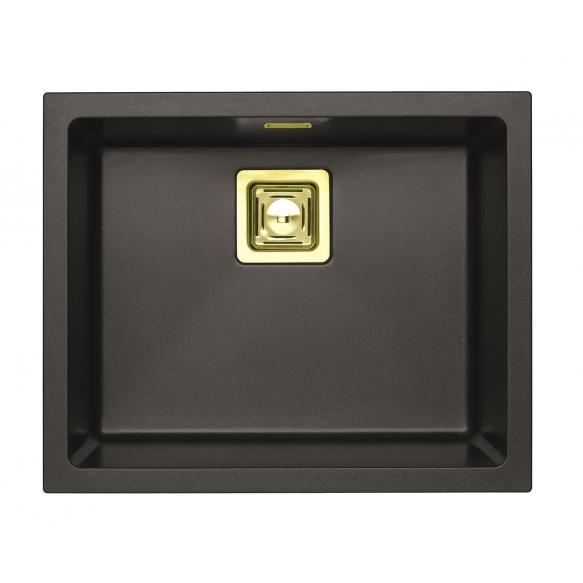 SINK ALVEUS QUADRIX 50 Twilight G05M P-U, with gold color fitings  ( 1108038 + 1127152 + 1103421 + 1110854)