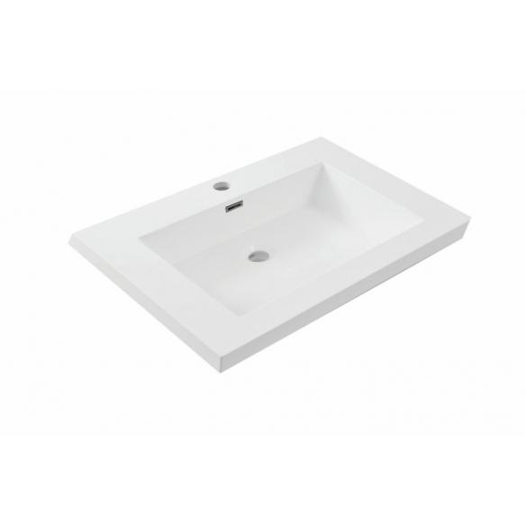 cultured marble furniture basin Vision 60x46 cm, white