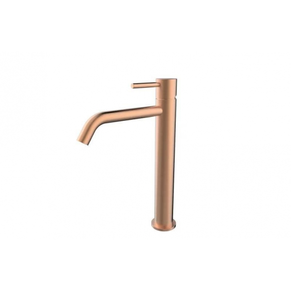 Style XL high basin mixer brushed copper