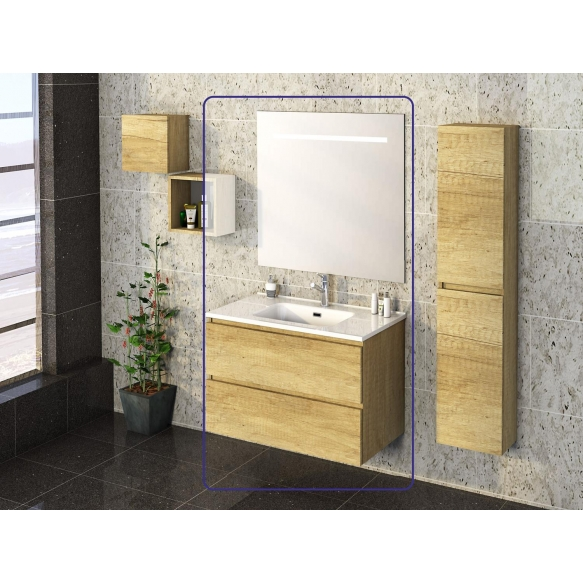 Exellence SEPHIA bathroom furniture 80 cm nature