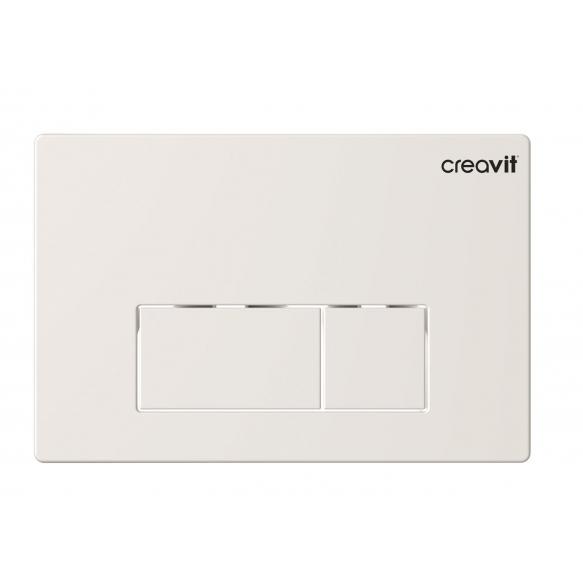 Creavit Arc flush plate, white