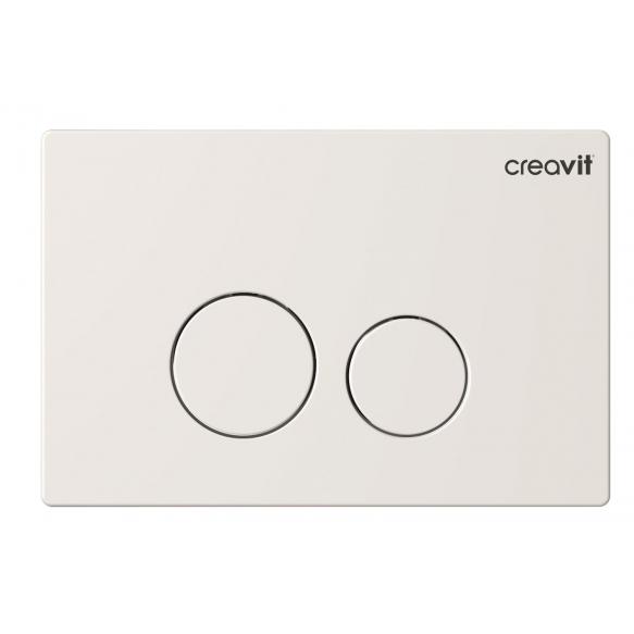 Creavit Terra flush plate, white