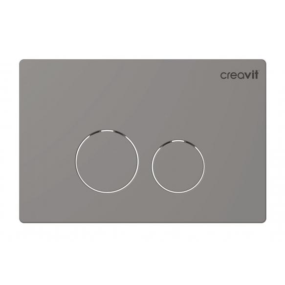Creavit Terra flush plate, mat chrome