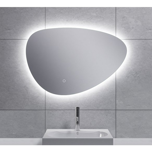 Uovo Led mirror 70x48 cm, dimmable, antifog
