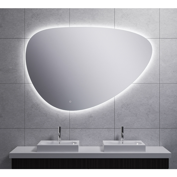 Uovo Led mirror 140x93 cm, dimmable, antifog