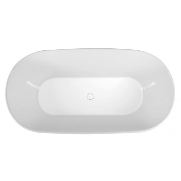 DELONIX Cast Marble Freestanding Bath 170x84x61,5cm, White