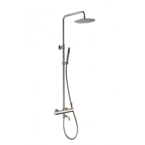 rain shower set with bath spout Cherry, brushed steel