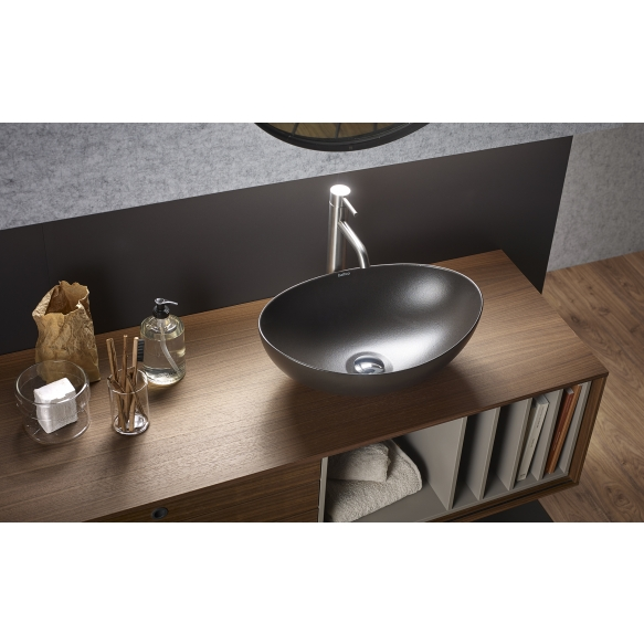 Metal basin Begursa, anthracite