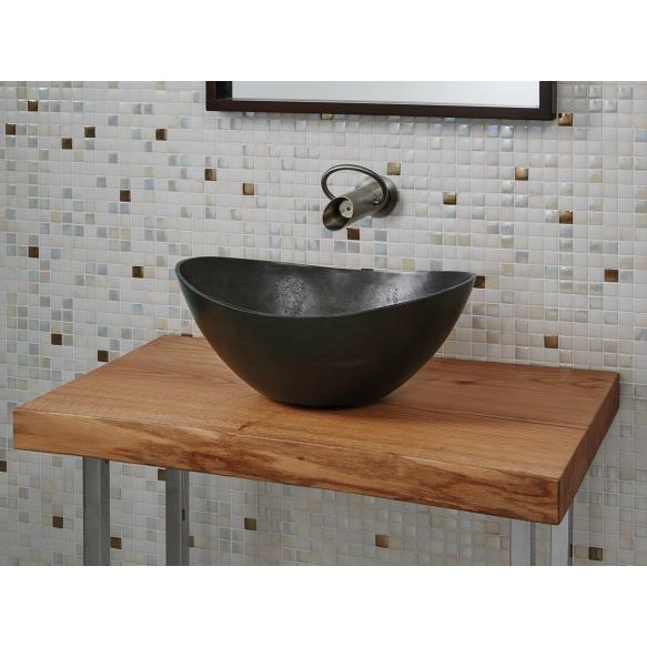 Metal basin Begur Rustic, anthracite