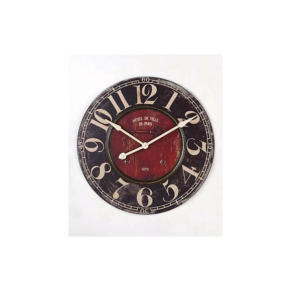 """29""""Round MDF Wall Clock, with defect on back"""
