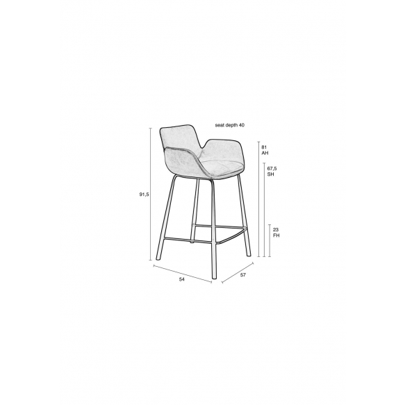 Counter Stool Brit Pink